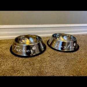 Personalized pet bowls - set of 2!!